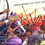 détail de la planche d'illustration décrivant la bataille de Krina en 1235 - Source : Benjamin Kouadio - Wikipédia Commons
