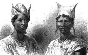 Coiffure bambara (source : Wikipédia Commons)
